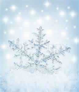 beautiful blue snowflake winter background stock photo colourbox