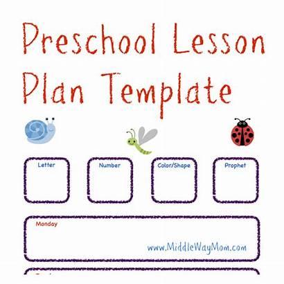 Lesson Preschool Plan Template Toddler Plans Ready