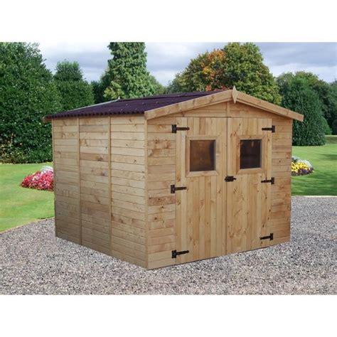 abri de jardin 7 20m 178 en bois toiture en plaques ondul 233 es achat vente abri jardin chalet