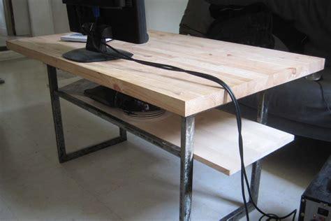 plateau de bureau bois tables basses reactivedesign meubles acier