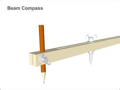 beam compass woodworking tools router