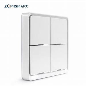 Zemismart Tuya Zigbee Light Switch With Aluminum Frame