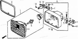 Honda Motorcycle 1985 Oem Parts Diagram For Headlight