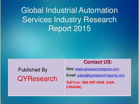 global industrial automation services market 2015 industry