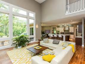Brown Leather Sectional Living Room Ideas by Gray And Yellow Living Rooms Photos Ideas And Inspirations