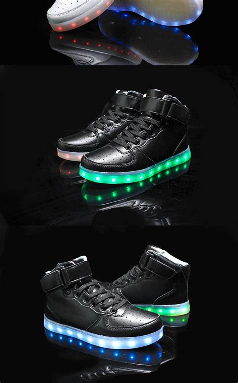 merkmak golden silver big size  led shoes men glowing