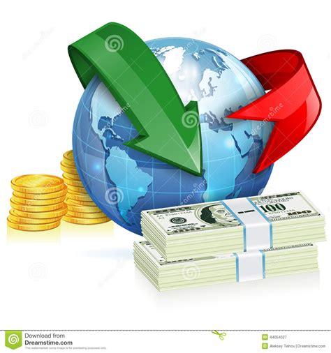 bureau de transfert d argent concept global de transfert d 39 argent illustration de