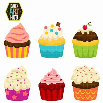 Clipart Clip Cakes Cup Party Class Cupcake
