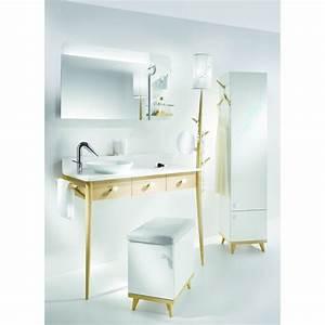 Coiffeuse Salle De Bain : meuble de salle de bains type coiffeuse delpha ~ Teatrodelosmanantiales.com Idées de Décoration