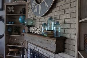 fireplace makeover with annie sloan chalk paint With barnwood mantle