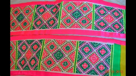 cross stitches pattern hmong paj ntaub youtube