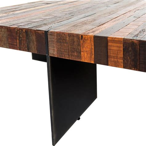 chunky square coffee table dayle rustic lodge chunky square wood iron coffee table