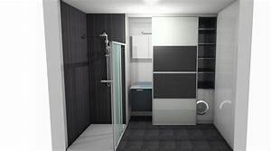 votre avis pour notre salle de bain et quel choix 7 With porte de douche coulissante avec meuble de salle de bain à suspendre