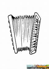 Accordian Coloring Pages Accordion sketch template