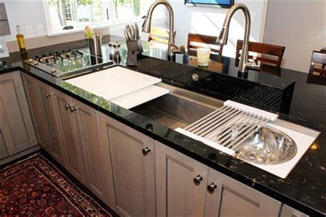galley kitchen sink seen heard at the kitchen bath industry show kbis 1176