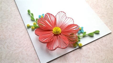 card designs quilling flowers tutorial  quilling