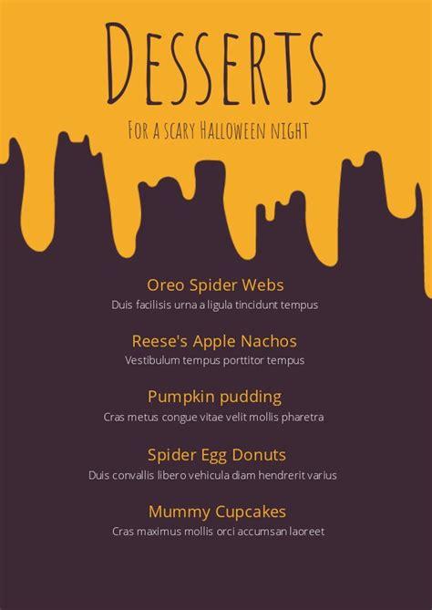 halloween dessert menu template design flipsnack