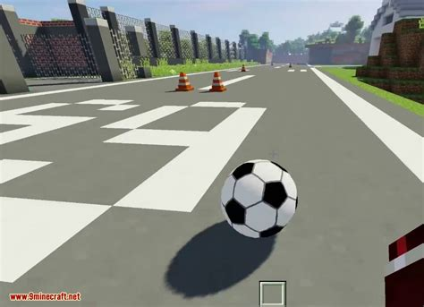 soccer mod  playing football  minecraft