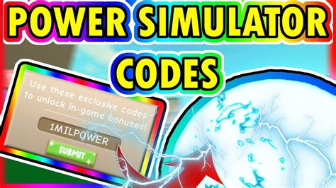 roblox power simulator codes youtube