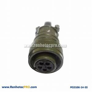 5 Pins Socket MS 5015 Connector Straight Plug MS3106 ...