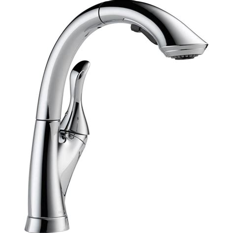 single handle kitchen faucet with pull out sprayer delta linden single handle pull out sprayer kitchen faucet