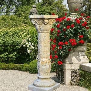 Holztrennwände Für Den Garten : deko stein s ule f r den garten constanzia ~ Sanjose-hotels-ca.com Haus und Dekorationen