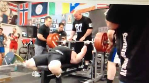 Scott Mendelson Attempts To Raw Bench 716 Lbs Youtube