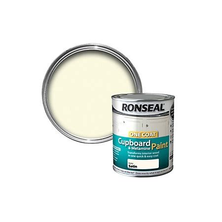 Ronseal Cupboard Paint Reviews by Ronseal One Coat Ivory Satin Cupboard Paint 750 Ml