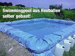 Swimmingpool Selber Bauen : diy swimmingpool aus strohballen selber bauen teich ~ Watch28wear.com Haus und Dekorationen