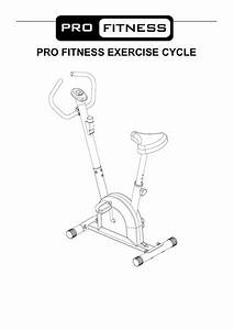 Pro Fitness Exercise Cycle Instruction Manual