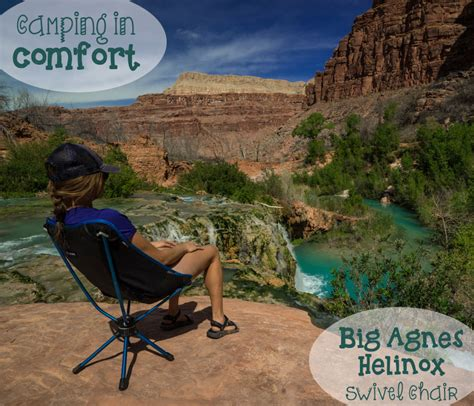 cing in comfort with the big agnes helinox swivel chair