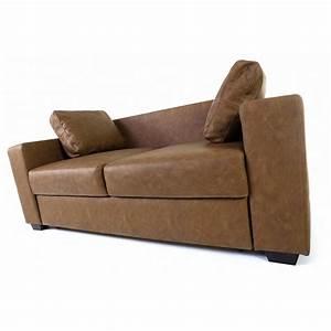 Canapé D Angle Vintage : canap d 39 angle convertible simili cuir chocolat vintage mooviin ~ Teatrodelosmanantiales.com Idées de Décoration