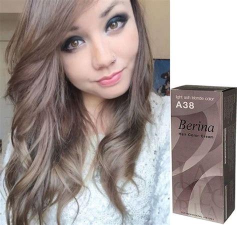 Ash Hair Dye by 2x Berina Hair Color Light Ash Color No 38