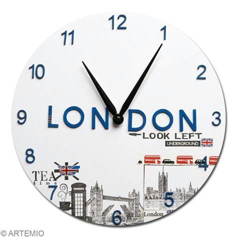 horloge de cuisine originale horloge en bois à décorer ronde 30 cm horloge à décorer