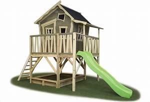 Maison En Bois Enfant : maisonnette en bois pour enfant cabane bleue sunny lodge ~ Nature-et-papiers.com Idées de Décoration