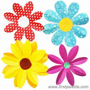 Folding Paper Flowers Craft (8-Petal Flowers) Kids