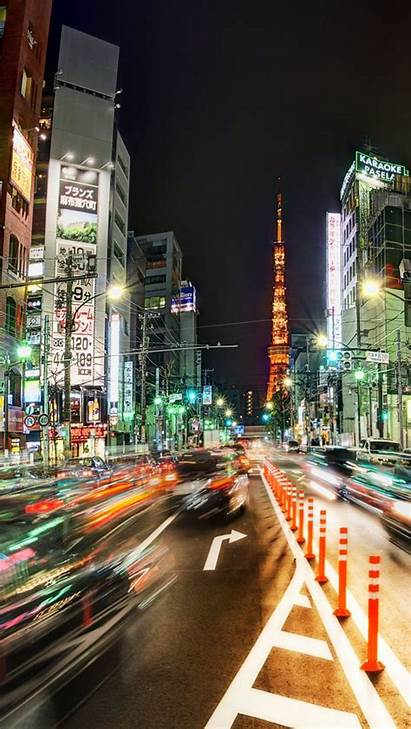 Tokyo Night Street Busy Mobile Wallpapers 4k