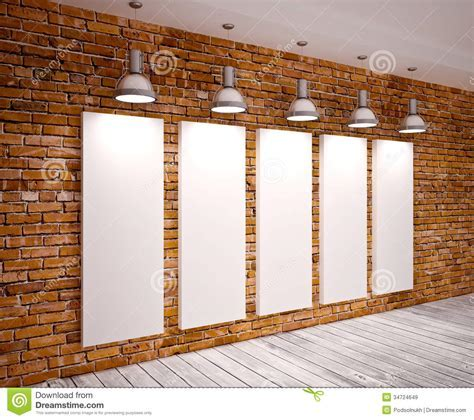 Banner on wall stock image. Image of floor, construction