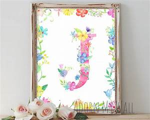 letter j wall art instant download monogram home decor With letter j wall art