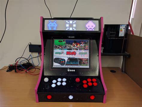 bartop arcade cabinet with udoo x86 and retropie udoo