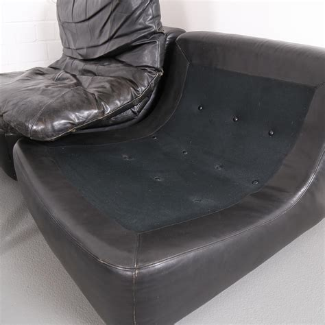 vintage modular leather sofa  dreipunkt international