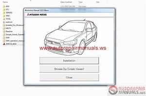 Mitsubishi Lancer 2015 And Lancer Sportback 2015 Service Manual Cd