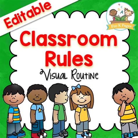 preschool classroom 676 | class rules cover