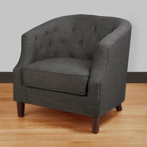 ansley charcoal grey tub chair contemporary armchairs