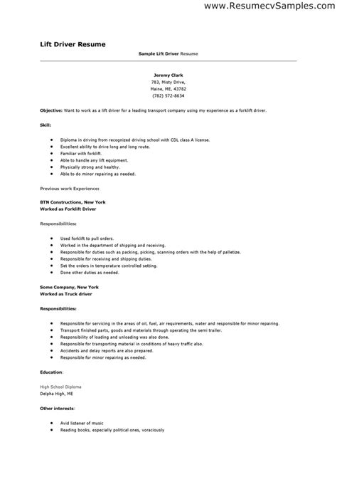 delivery driver resume sle resume exles for driver augustais