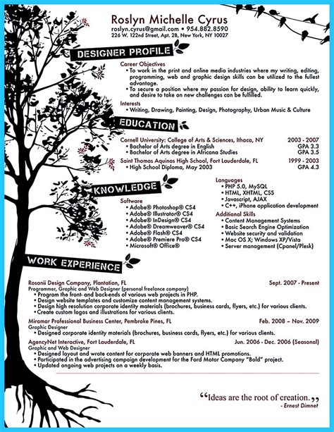 Artistic Resume Templates by Custom And Unique Artistic Resume Templates For Creative Work
