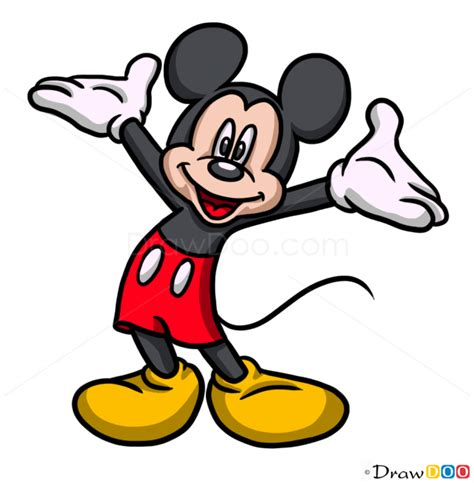 draw mickey mouse cartoon characters