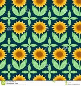 Sunflower pattern stock vector. Image of modern, blossom ...