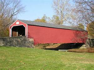 Lehigh Valley Covered Bridge - The Sayre Mansion