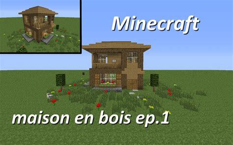 minecraft maison en bois ep 1